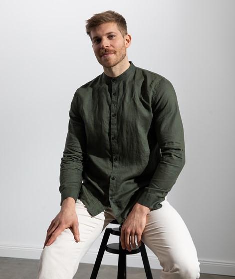 NOWADAYS Linen Hemd grün