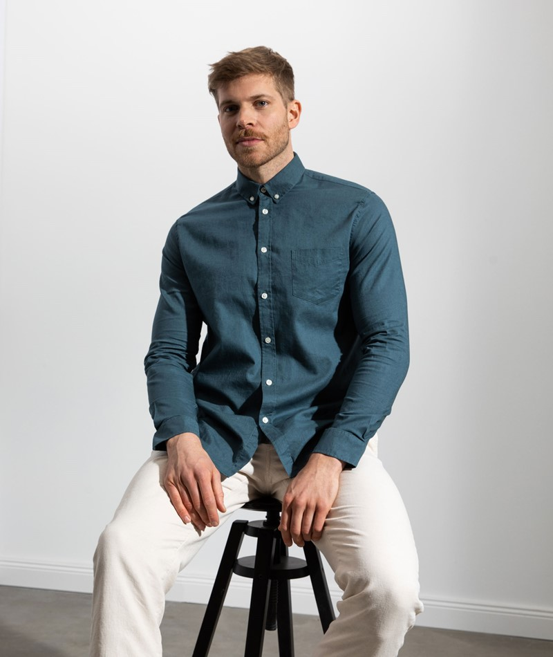 SAMSOE SAMSOE Liam BA Hemd blau