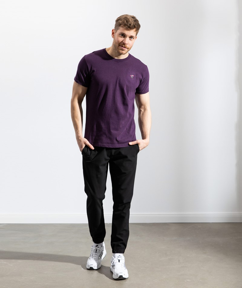 REVOLUTION Tuft Application T-Shirt lila