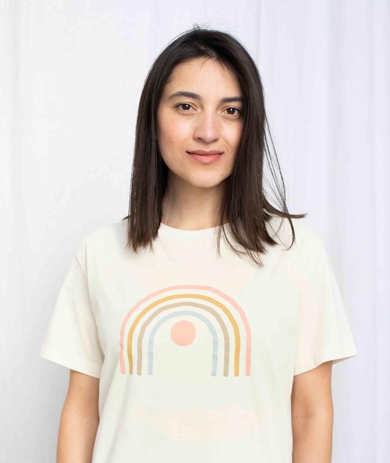 KAUF DICH GLÜCKLICH T-Shirt creme