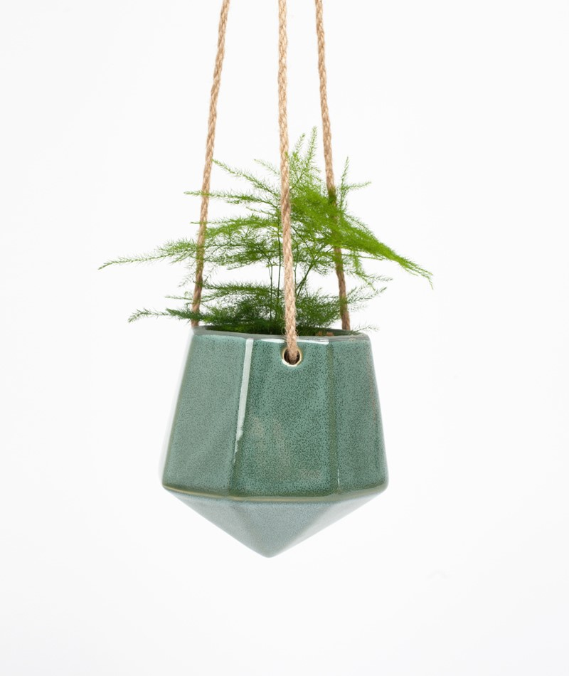 2HAVE Rubin Pflanzenampel grün