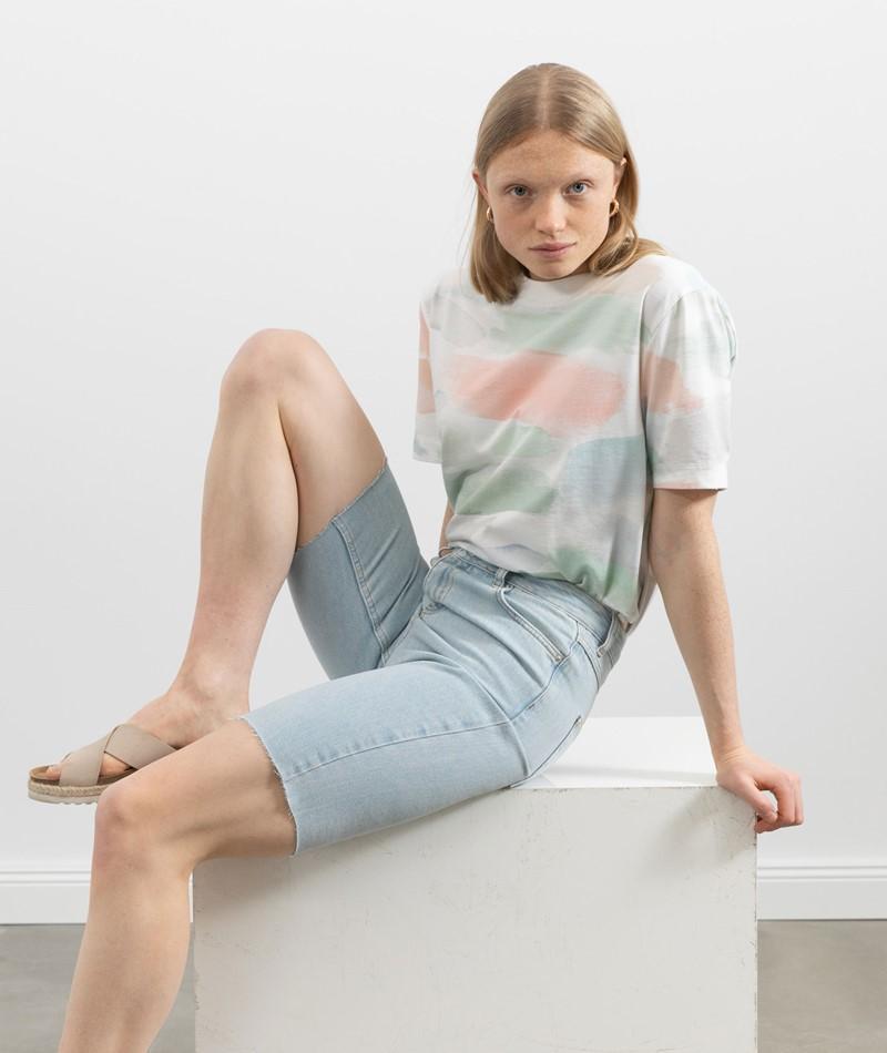 WHY7 Dona HW Long Shorts denim