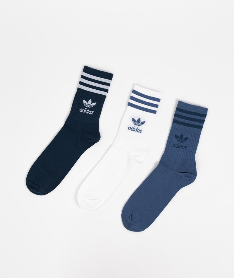 ADIDAS Mid Cut CRW Socken blau