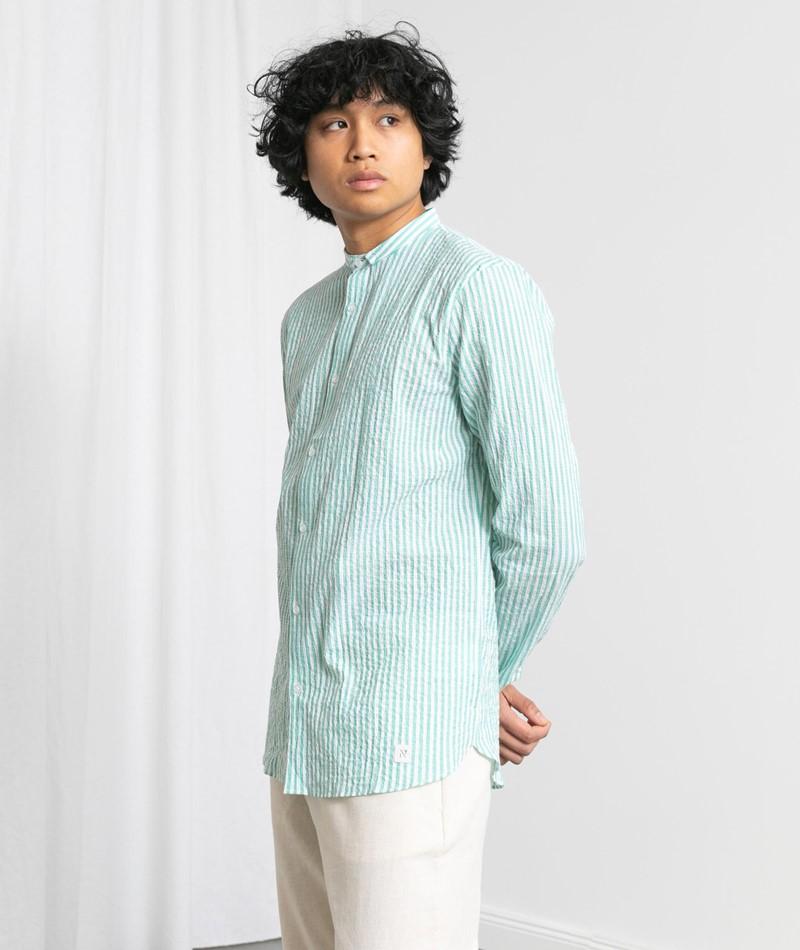 NOWADAYS Seersucker Stripe Hemd
