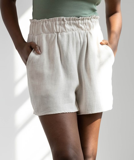 YAS YASViggi HW Shorts creme