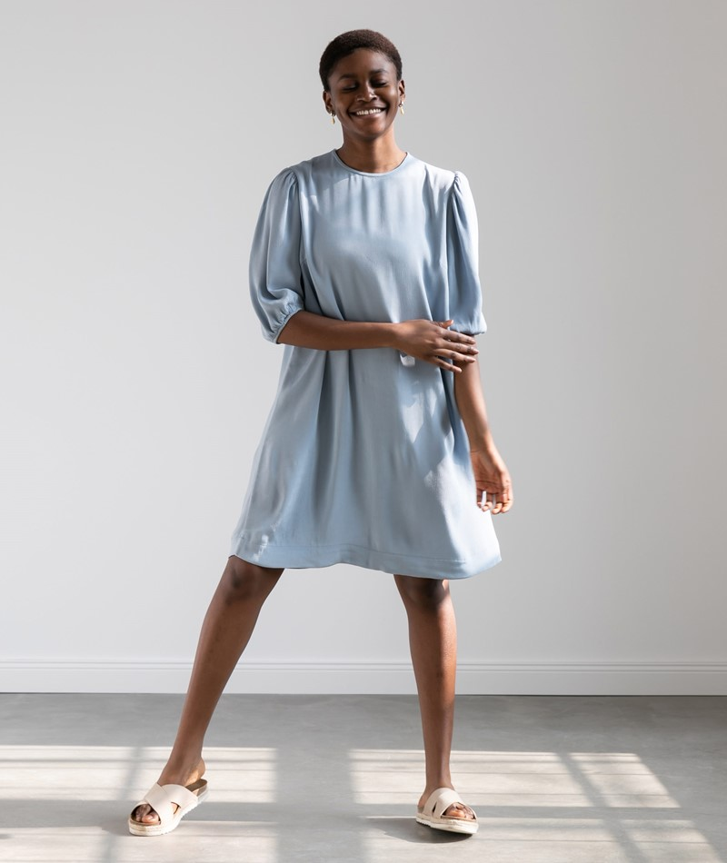 SAMSOE SAMSOE Aram Kleid blau