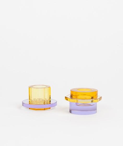 HÜBSCH Kerzenständer Glas lila