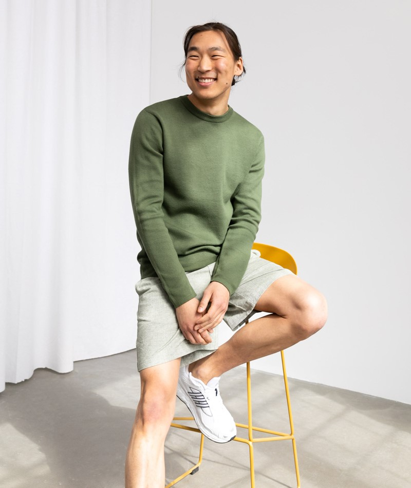 MINIMUM Peer Pullover grün