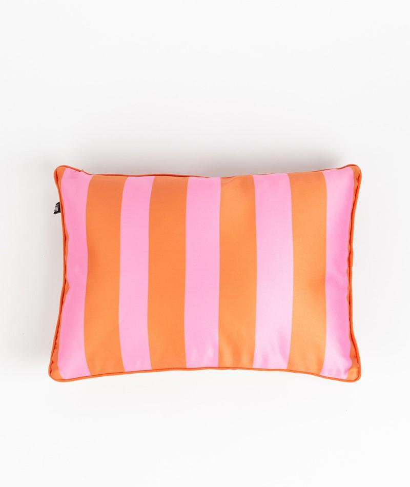 HKLIVING Satin Kissen 35x50  orange/pink