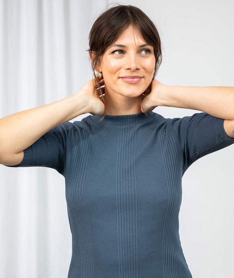 JAN N JUNE Nina T-Shirt blau