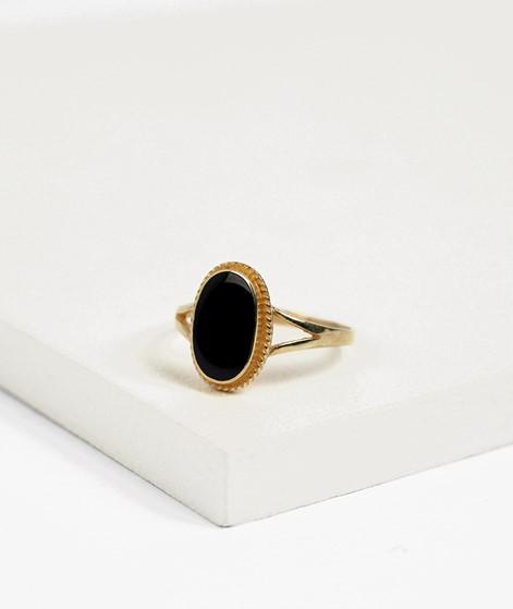FLAWED Oval Souvenir Ring schwarz