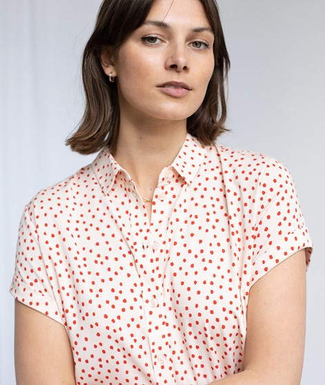 SAMSOE SAMSOE Majan S/S Bluse gepunktet