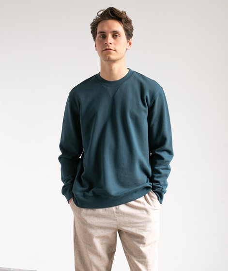 NOWADAYS Garmend Dye Sweater blau