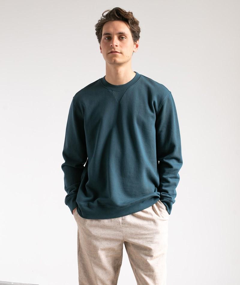 NOWADAYS Garmend Dye Sweater blau
