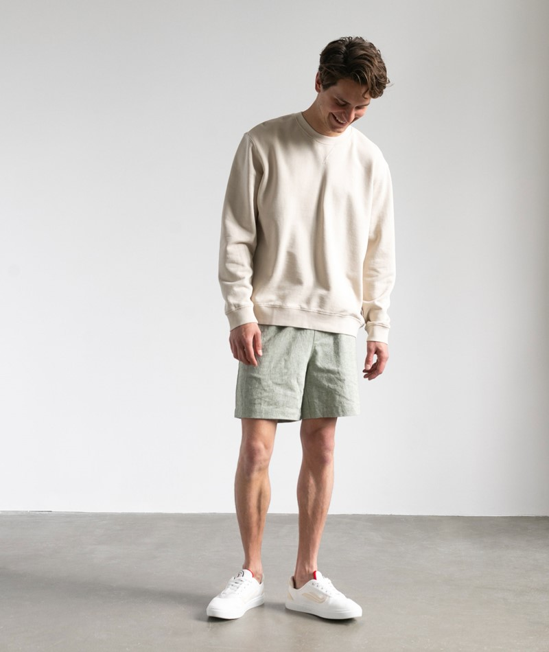 NOWADAYS Garmend Dye Sweater weiß