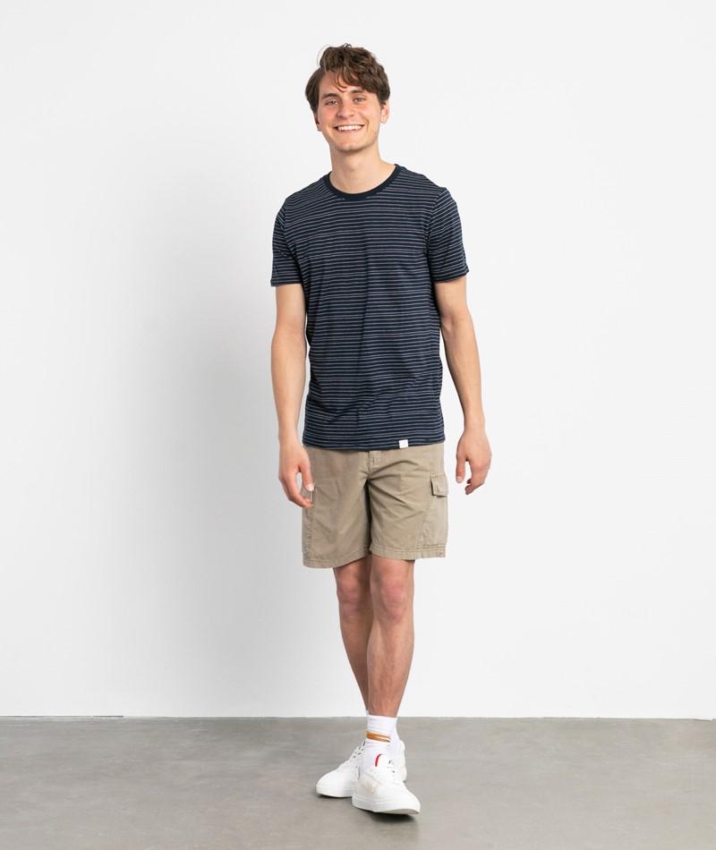 NOWADAYS Injected Strip T-Shirt blau