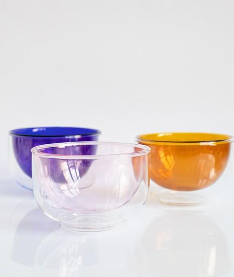 HÜBSCH Glas Schale rosa