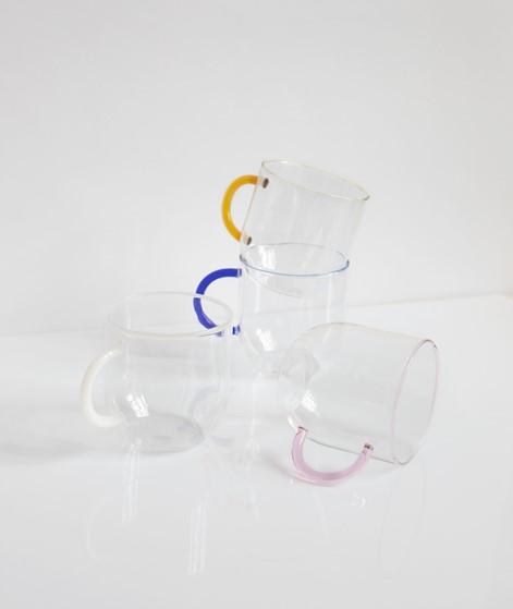 HÜBSCH Glas mit Henkel weiß