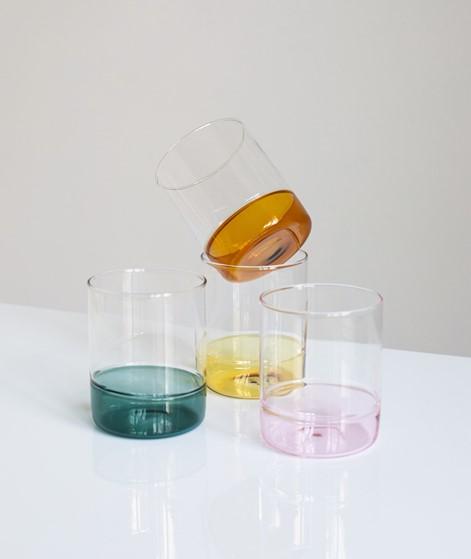HÜBSCH Trinkglas Set mehrfarbig