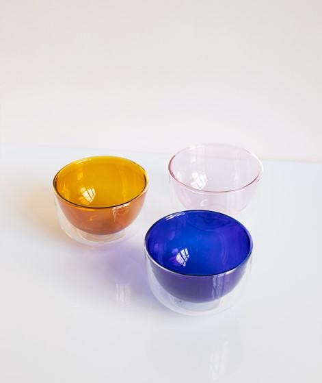 HÜBSCH Glas Schale blau
