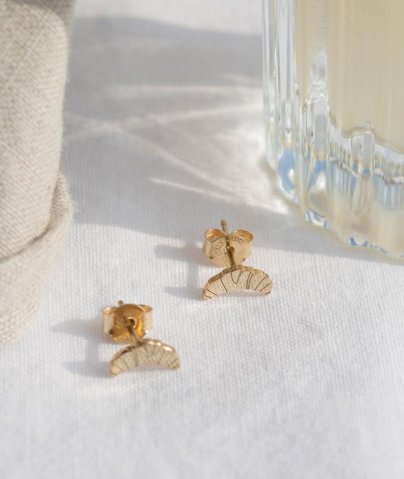 JUKSEREI Croissant Ohrringe gold