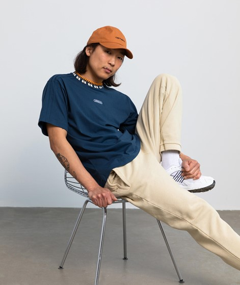 ADIDAS Rib Detail T-Shirt blau