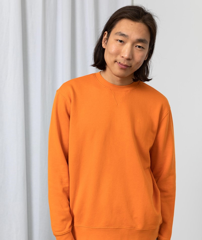 NOWADAYS Garment Dye Sweater Orange