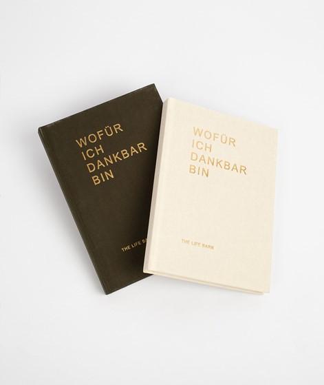 THE LIFE BARN Dankbarkeitsbuch beige