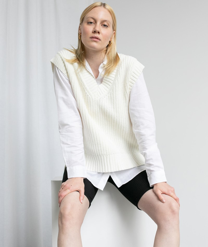 NEO NOIR Kaylee Spring Pullunder weiß