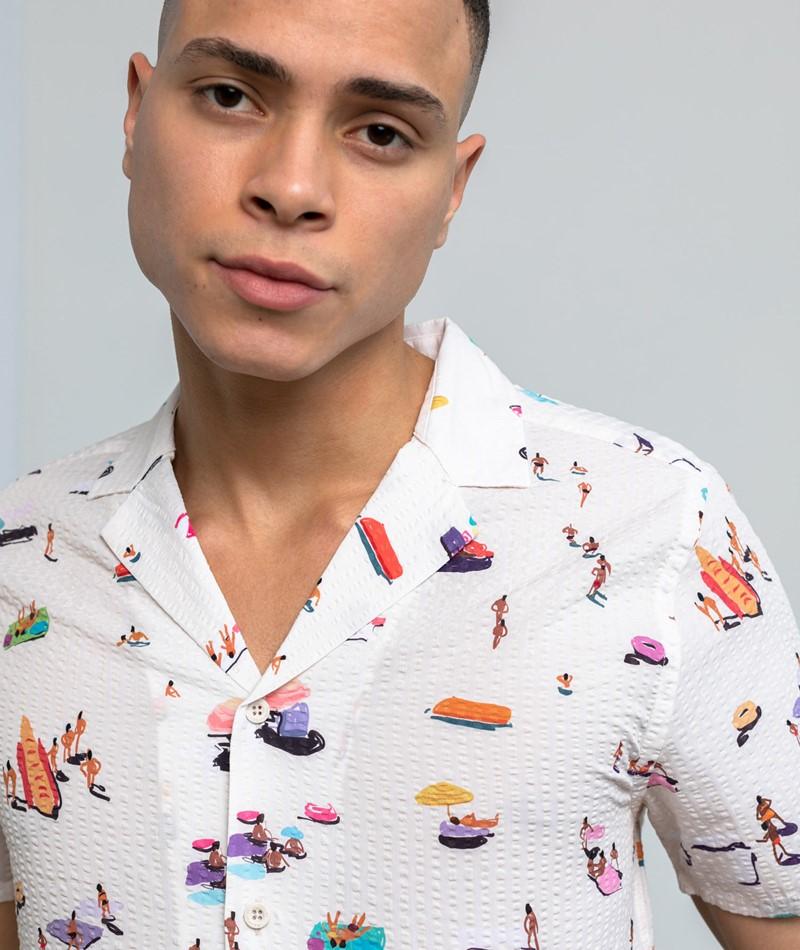 REVOLUTION Short Sleeve Cuban Hemd print