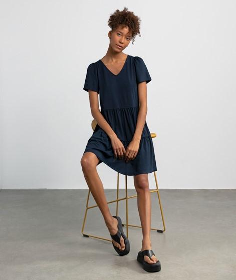 VILA VIEdena V-Neck Kleid blau