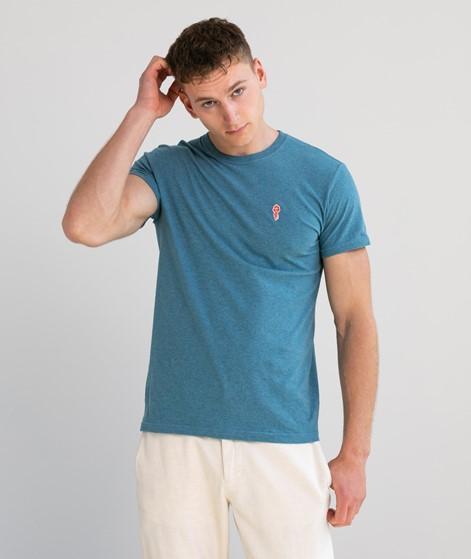 REVOLUTION Brand Label T-Shirt blau