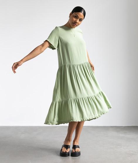 MOSS COPENHAGEN Pia Morocco Kleid grün