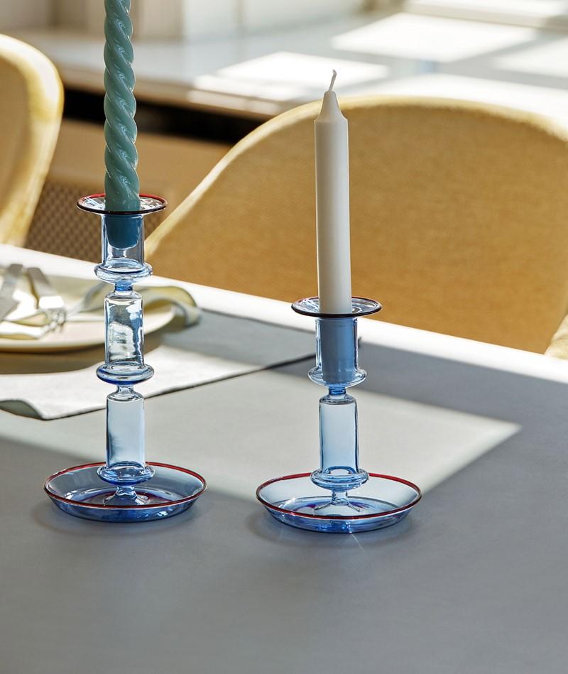 HAY Flare Medium Kerzenständer hellblau
