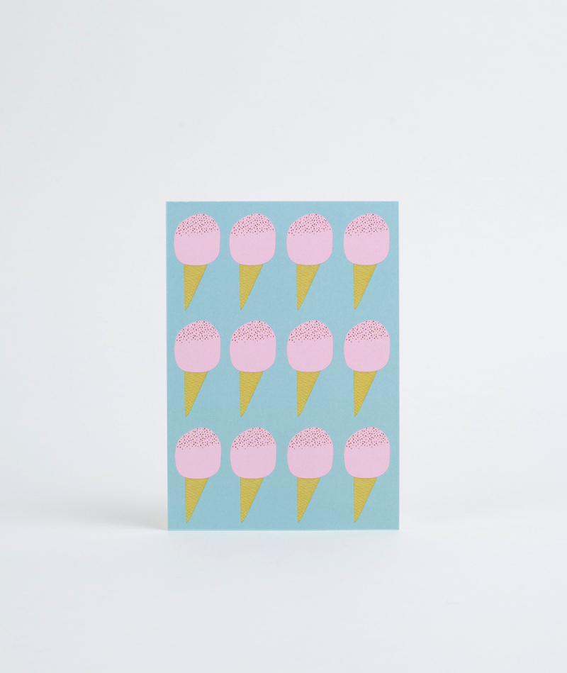 KAUF DICH GLÜCKLICH Postkarte Ice Cream