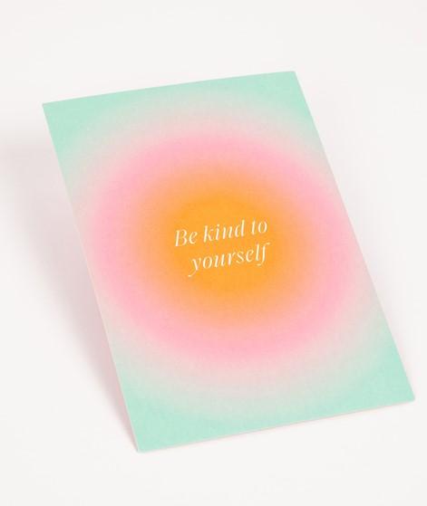 KAUF DICH GLÜCKLICH Postkarte be kind