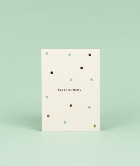 KAUF DICH GLÜCKLICH Postkarte dots
