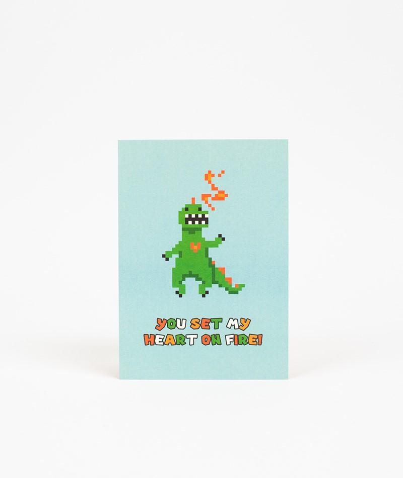 KAUF DICH GLÜCKLICH Postkarte you set my