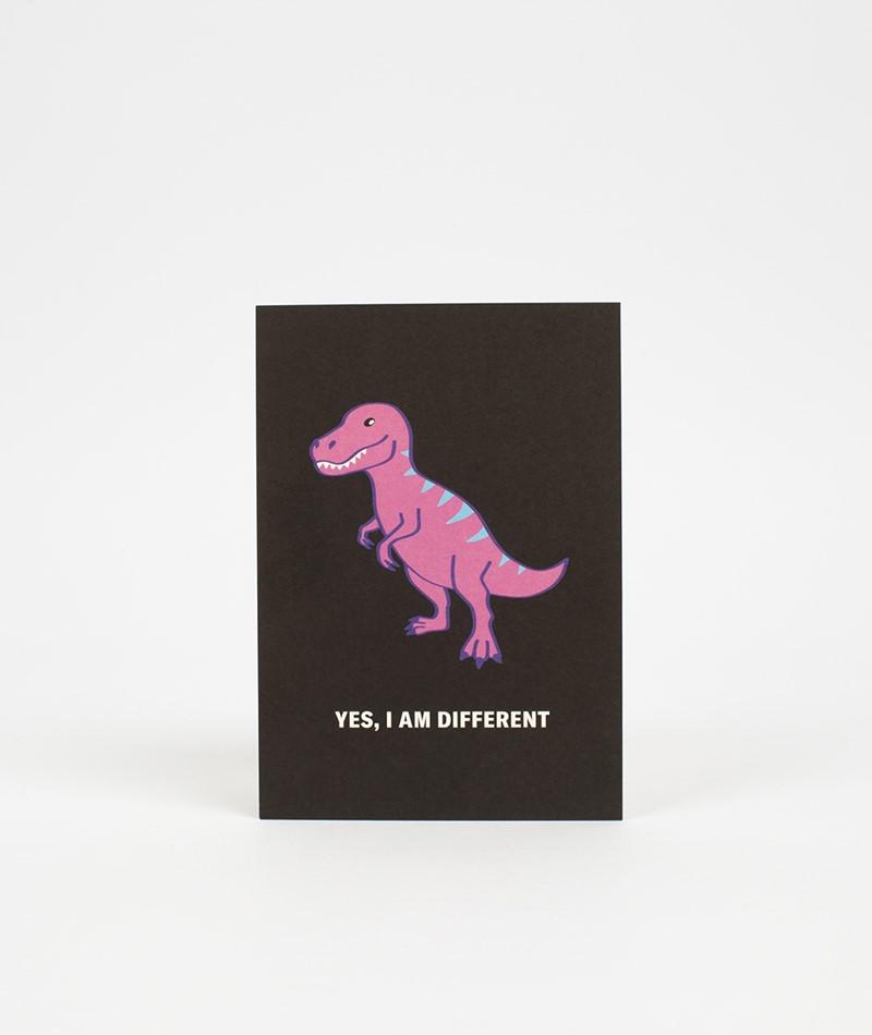 KAUF DICH GLÜCKLICH Postkarte yes, I am