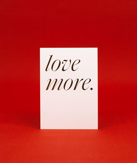 KAUF DICH GLÜCKLICH Postkarte love more