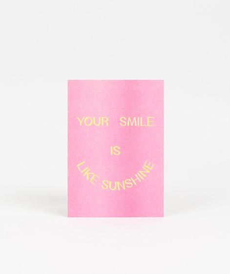 KAUF DICH GLÜCKLICH Postkarte smile