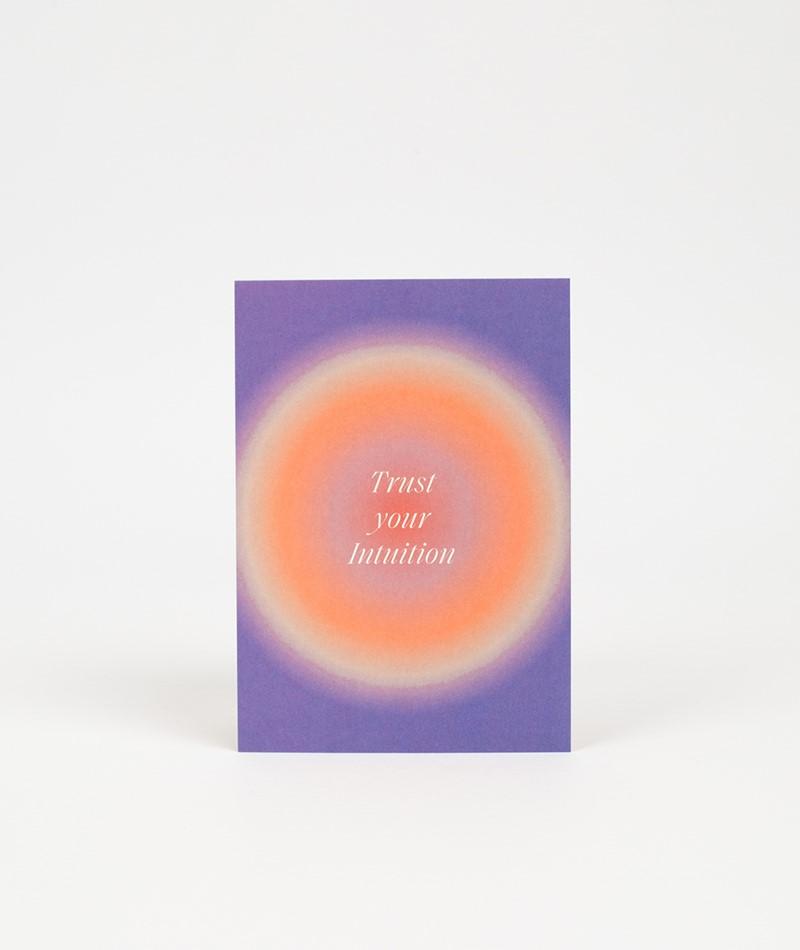 KAUF DICH GLÜCKLICH Postkarte intuition