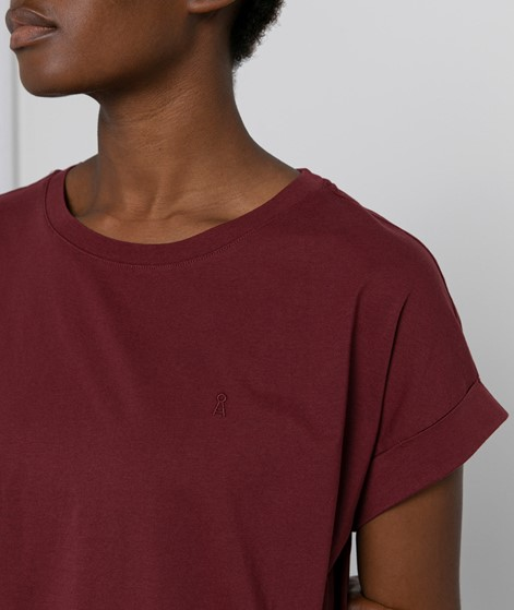ARMEDANGELS Ida T-Shirt bordeaux