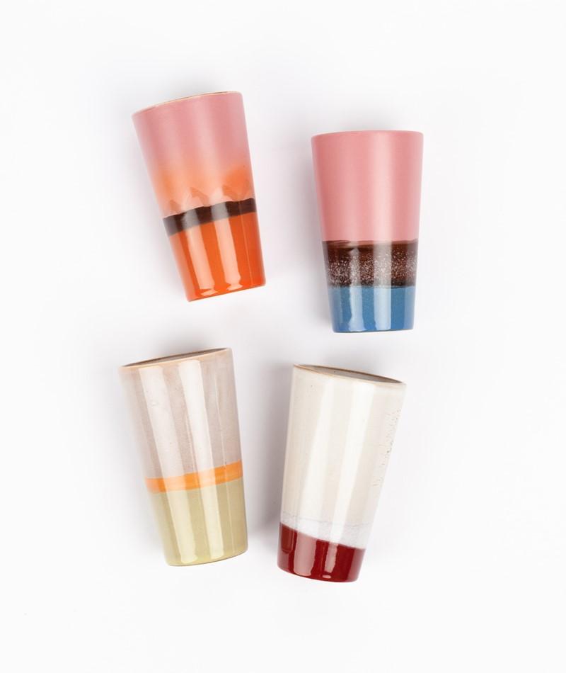 HKLIVING Ceramic Set 70`s Latte Mugs