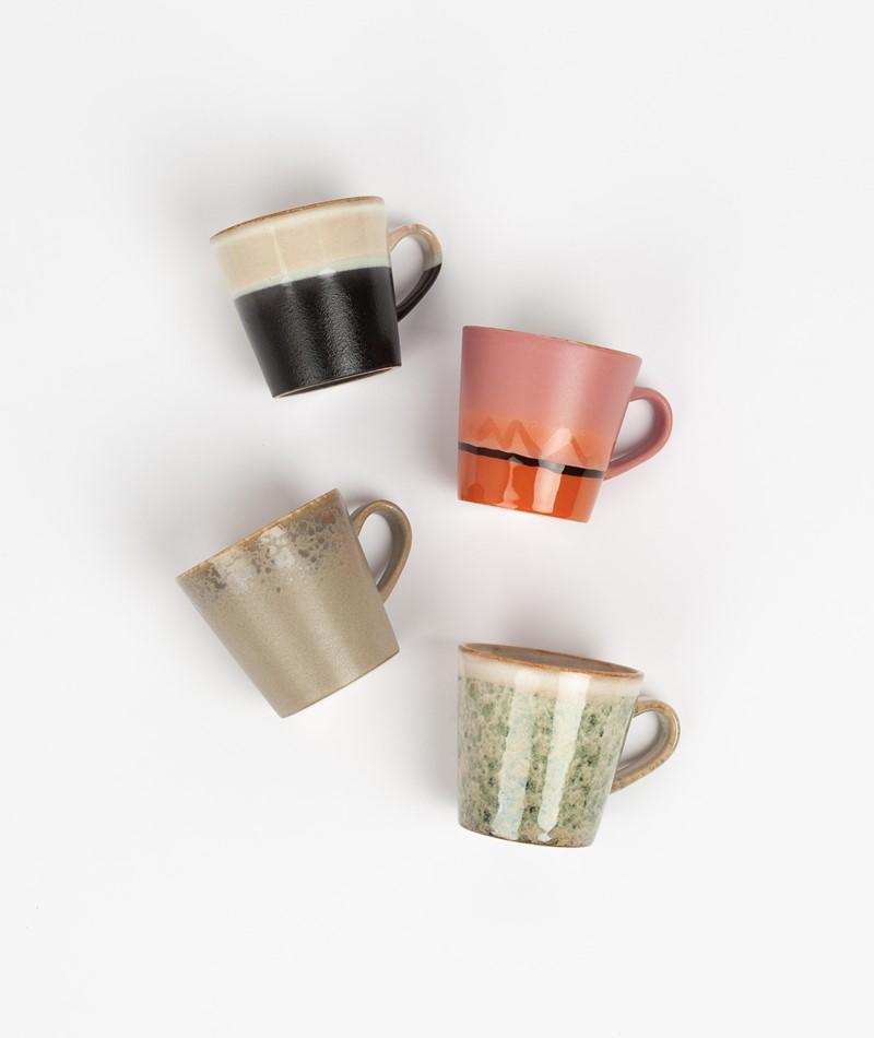 HKLIVING Ceramic Set 70`s Americano Mugs