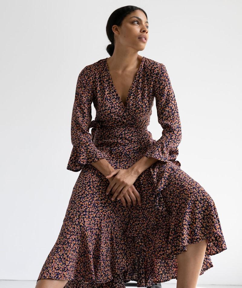 YAS YASBlima Midi Kleid gemustert