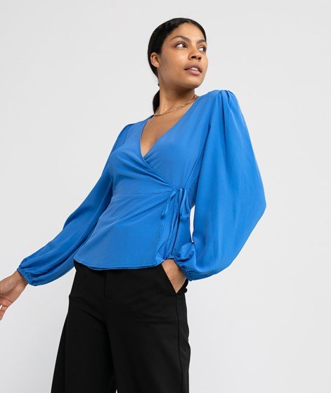 VILA VITimia L/S Wrap Bluse blau