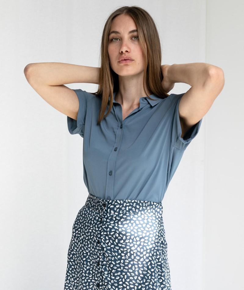 SAMSOE SAMSOE Majan S/S Bluse blau