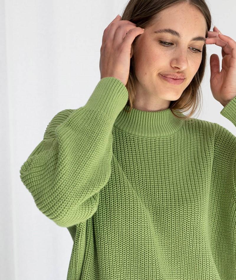 JAN N JUNE Soho Pullover grün