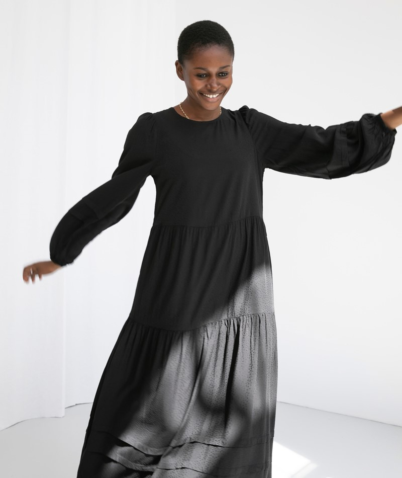 MOSS COPENHAGEN Celesta Kleid schwarz